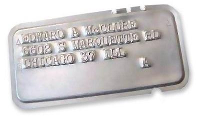 Предоплатная карта из стали